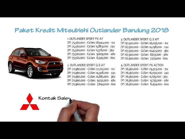 Kredit Mitsubishi Outlander Bandung Oktober 2018 | 0811229295