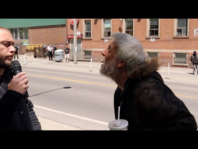 Spit in the face by homeless man