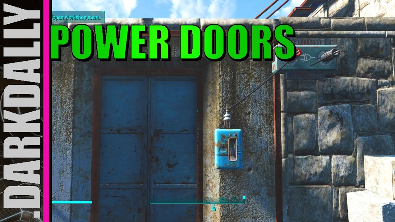 Fallout 4 Simple Power Doors W Logic Gate Switch How To