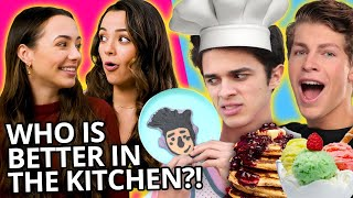 BOYS VS GIRLS COOKING CHALLENGE w/ Brent Rivera, Ben Azelart, Merrell Twins & MORE