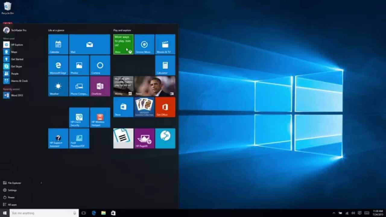 Windows 10 first look youtube for 1st window