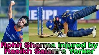 Rohit Sharma's toe gets hit by Rasikh Salam's Bullet Yorker | Spectrum Records