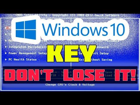 Как узнать ключ вшитый в биос ноутбука