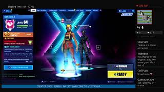 || Fortnite Live! Girl PS4 Bot - 600+ WINS! - SEASON 10 GRIND ||