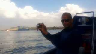 Hany Abdel-Rahman editor in chief of the new Suez Canal during filming Channel