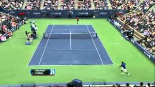 Rafael Nadal Vs Andy Murray  Genius Shot Semi Final Us Open 2011 [HD]