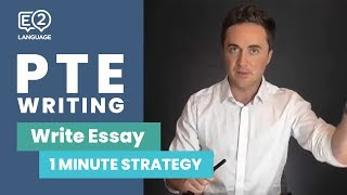 PTE Writing: 1 Minute Write Essay | STRATEGY!