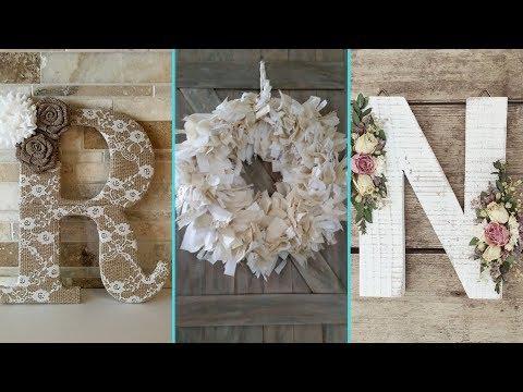 ❤ DIY Shabby chic style Floral Letters and Wreath decor Ideas ❤| Home decor ideas|  Flamingo Mango|