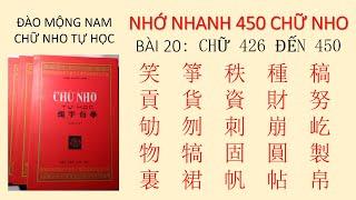 HỌC CHỮ HÁN NÔM Bài 20   dựa theo CHỮ NHO TỰ HỌC của Đào Mộng Nam