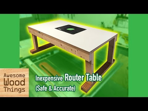 Inexpensive Router Table (safe & accurate) DIY