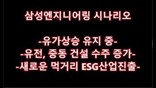 삼성엔지니어링 시나리오-유가상승 유지 중-유전, 중동 …
