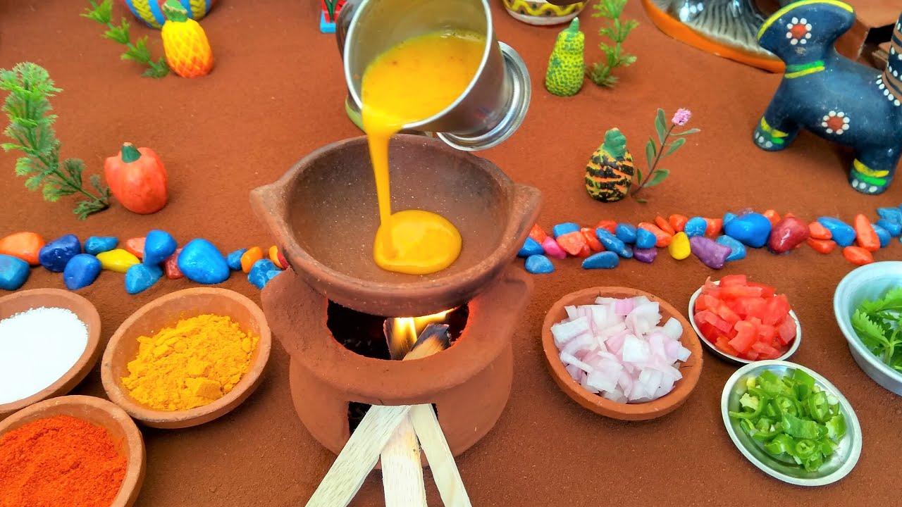 Miniature Cup Omelette | Miniature Cooking | Cup Omelette Recipe | Mini Food