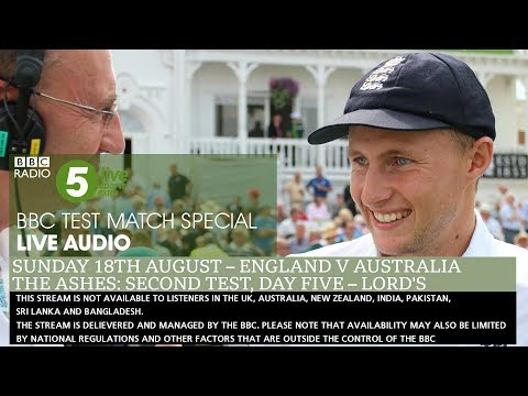 BBC Test Match Special Audio - The Ashes: England v Australia - Second Test, Day Five