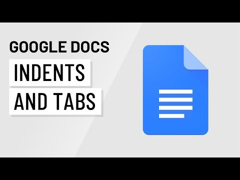 Google Docs: Using Indents and Tabs