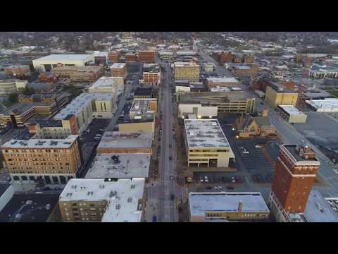 Terre Haute, Indiana... drones above the level