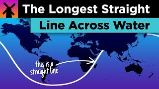What's the Longest Straight Line You Can Sail Without Touching Land?