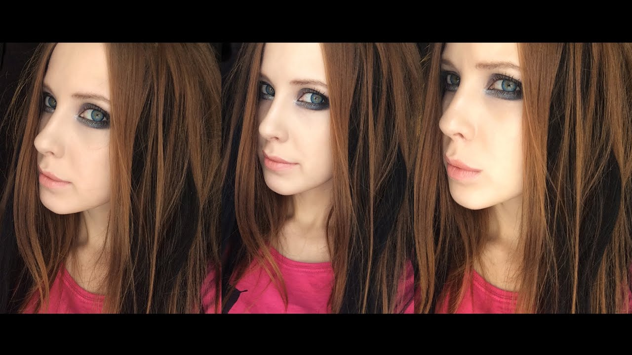 Makeup Tutorial Avril Lavigne 2004 Youtube