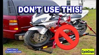 reasons to never use a motorcycle hitch carrier