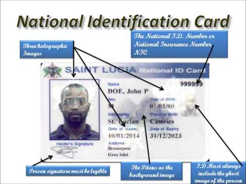 ST  LUCIA ID CARD FEATURES