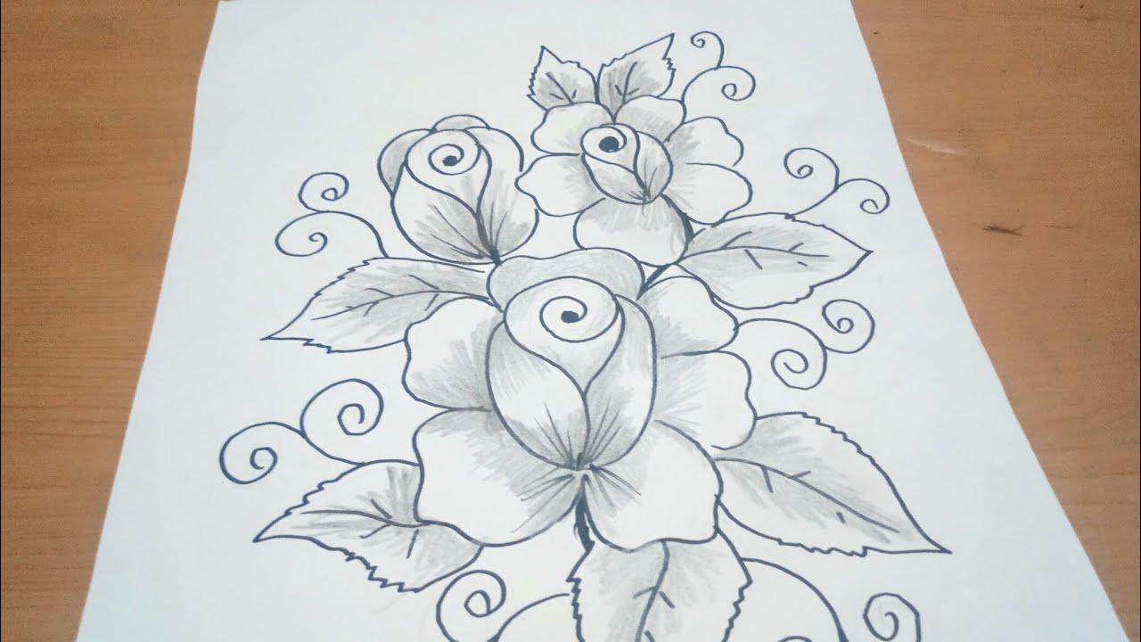 Sketsa Bunga Mawar Youtube