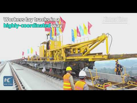 Get an insider's view of China's railway track laying miracle
