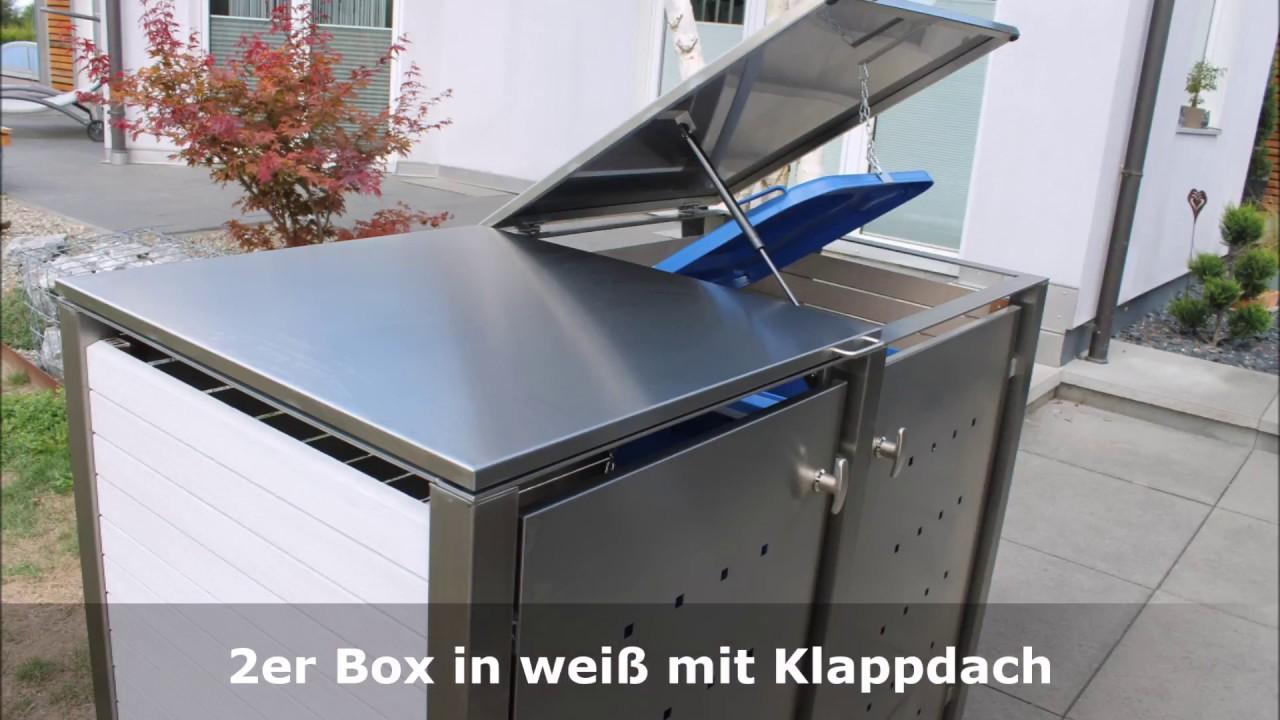 mülltonnenboxen kunststoff - sehr robust und in vielen farben