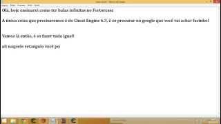 Hack Fortoresse Balas Infinitas