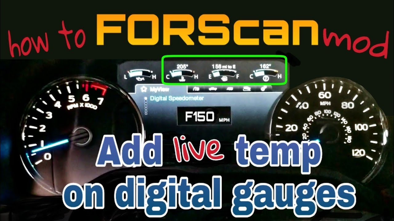 Forscan ford f150 add temperature on gauges - смотреть