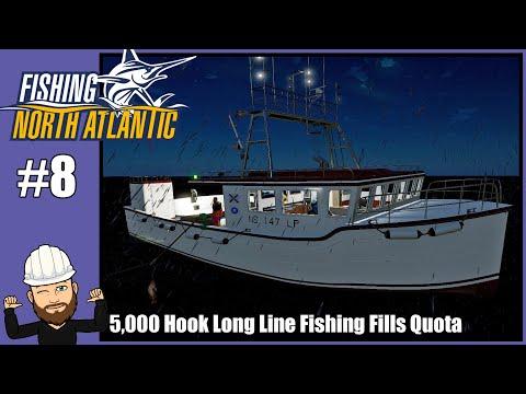 Fishing North Atlantic #8 - 5,000 Hook Long Line Fishing Fills Quota