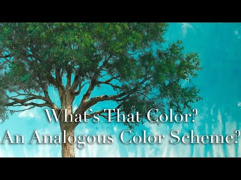 What's That Color? How To Paint, lesson on Analogous Color Scheme - with Tim Gagnon