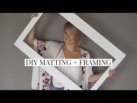 DIY Custom Matting + Framing For Cheap