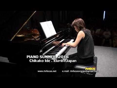 RTV focus VRanje  PIANO SUMMER 2016   Chikako Ide . klavir Japan Marmara kvartet . Istambul Turska 1