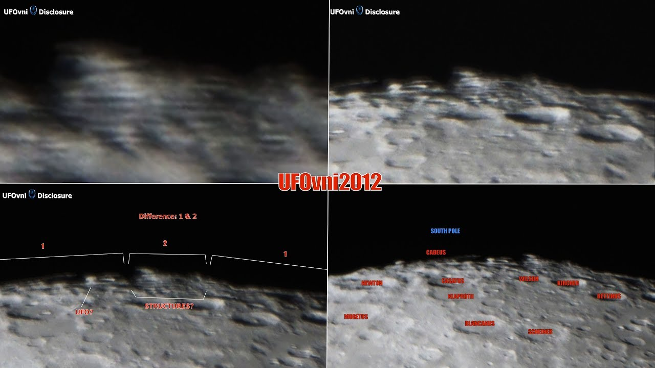 TELESCOPE MOON: Huge Structures On The Moon South Pole