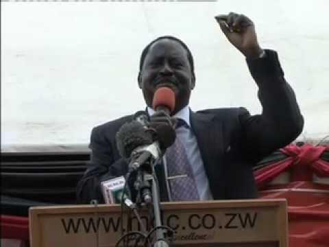 Prime Minister Raila Odinga in Zimbabwe