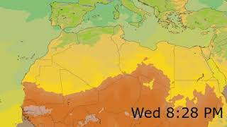 Northern Africa Surface Temperature Weather Forecast HD: 18 Nov 2019 [Updated at 0000 hours UTC]