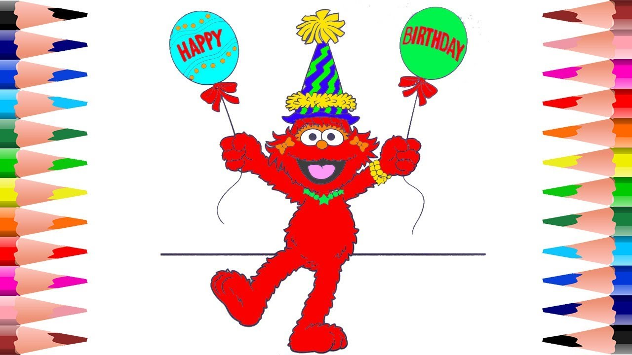Coloring for Kids Elmo Sesame Street Coloring Pages - Painting Elmo ...