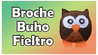 Broche de fieltro Buho - owl felt brooch