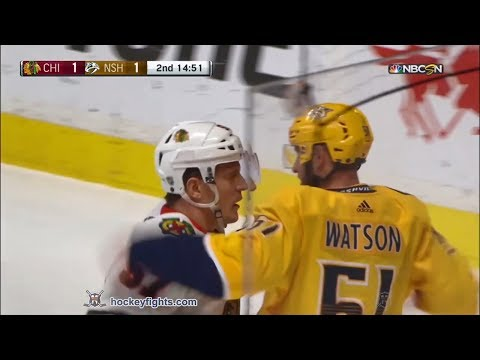 Tommy Wingels vs Austin Watson Jan 30, 2018