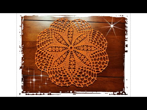 How To Crochet Doily In 18 Rounds For Beginers