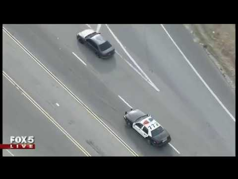 Slow-speed car chase in Palmdale, Calif.