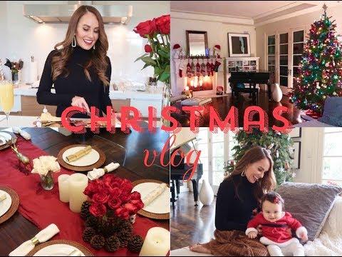 Christmas Vlog- Greek Cooking, Holiday makeup & Baby's First Christmas!