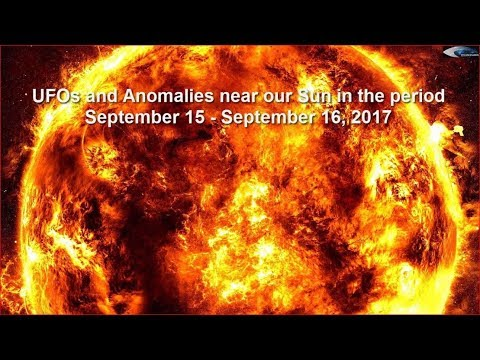 UFOs and Anomalies near our Sun in the period September 15 - September 16, 2017