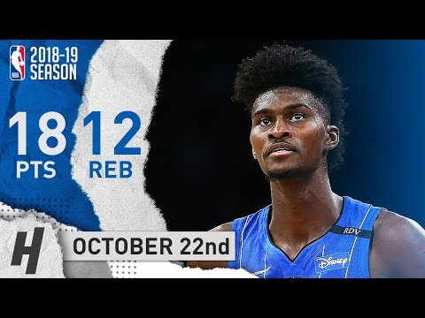 Jonathan Isaac Full Highlights Magic vs Celtics 2018.10.22 - 18 Points, 12 Reb