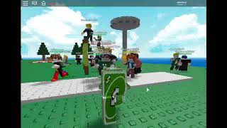 Playing roblox as an uno reverse card [People can't stop following me xD]