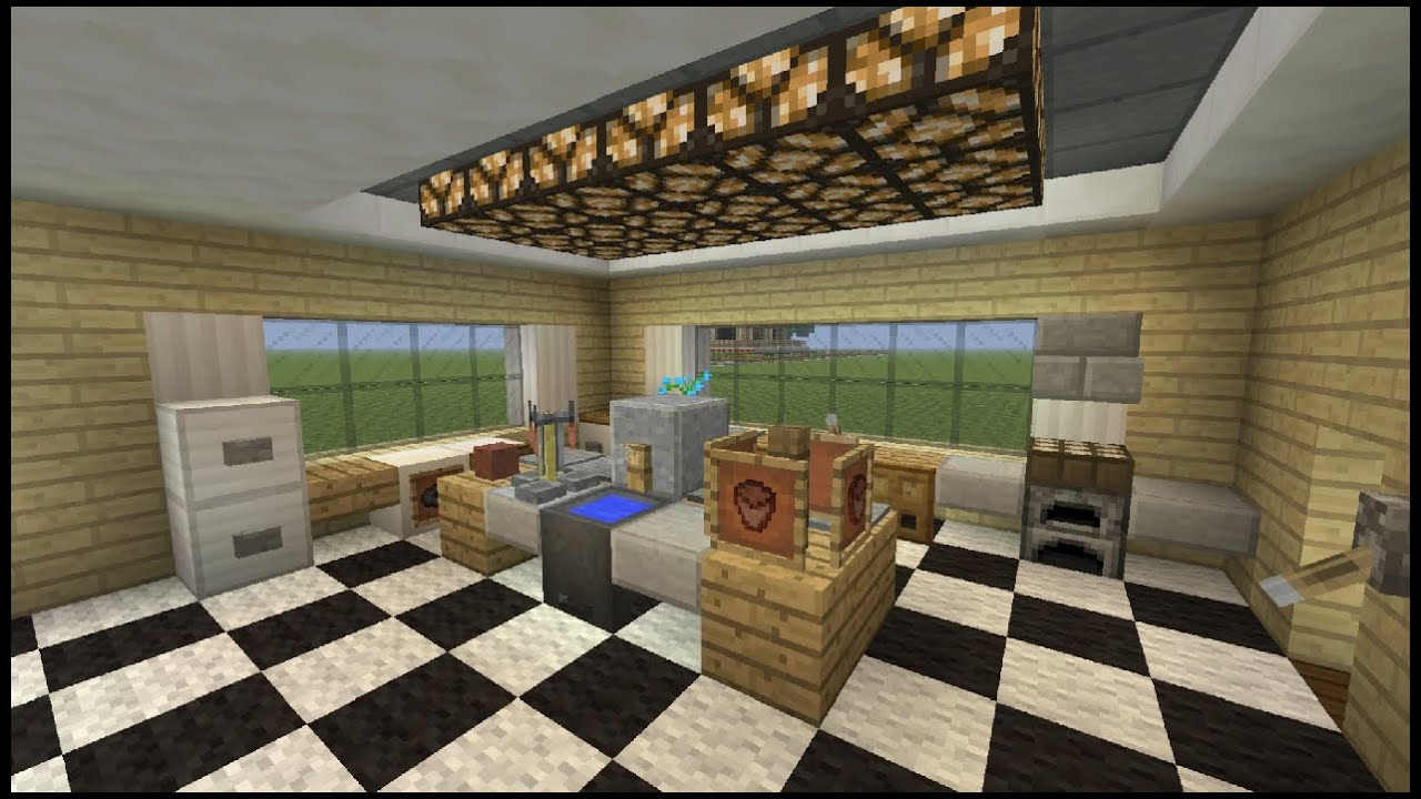 Minecraft tutorial how to make a kitchen youtube for Kitchen ideas minecraft