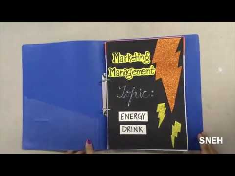 Marketing Management Project on Energy Drink / Business Studies / Class 12