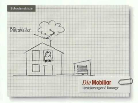 Animierte Schadenskizze Der Mobiliar Blitz Youtube