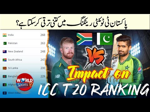 Pakistan vs South Africa 2021 T20 series impact on ICC T20 Ranking | Latest ICC ranking 2021