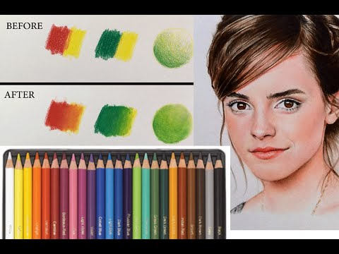 Best way to blend colored pencils youtube for Set painting techniques