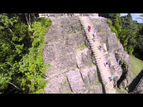 Mayan Ruins in Lamanai, Belize filmed with XP2 Quadcopter